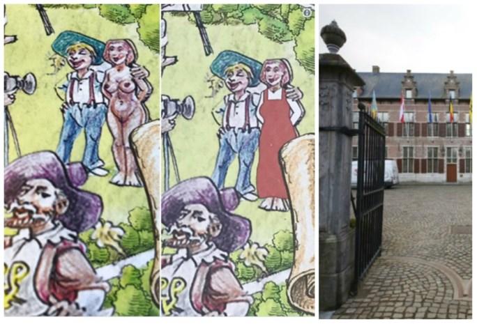 Ekeren vindt tekening naakte vrouw ongepast: 13.000 flyers de vuilbak in
