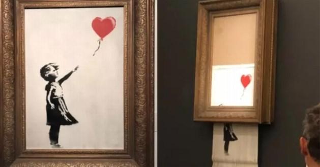 Koper biedt miljoen euro voor 'Meisje met Ballon', maar dat is zonder Banksy gerekend