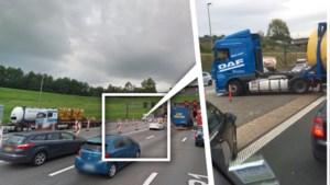 Verbijsterende beelden: vrachtwagen maakt vlak voor Kennedytunnel nog eventjes rechtsomkeer