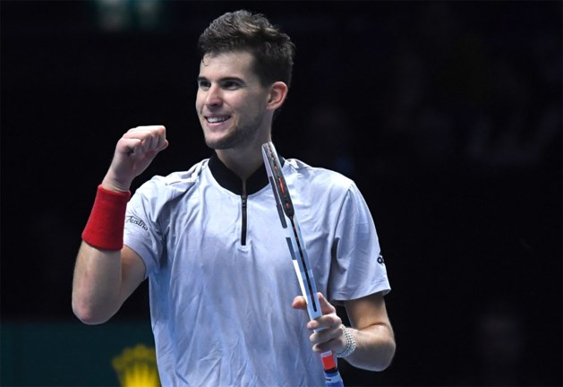 Thiem wint en houdt waterkans op halve finales ATP Finals, Anderson heeft ticket al beet