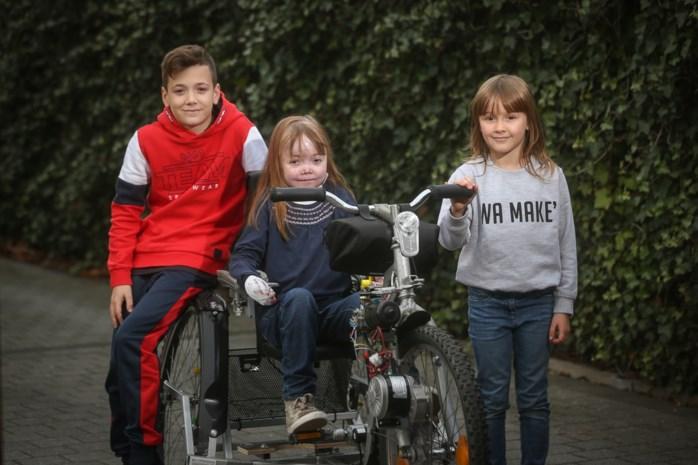 'Team Scheire' bouwt fiets voor Houthalense Morgan (12) met ongeneeslijke huidziekte