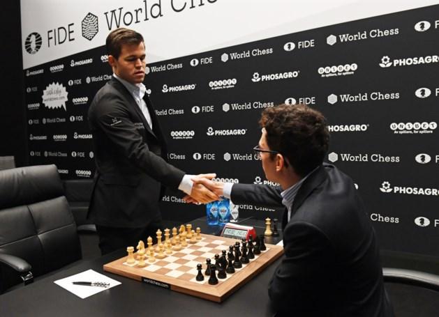 WK schaken wordt ware thriller: beide spelers schuwen de risico's niet maar zenuwen spelen belangrijke rol