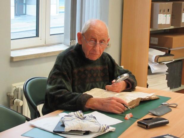 Het wandelende geheugen van Koersel: Marcel ging meer dan 50 jaar wekelijks naar rijksarchief van Hasselt