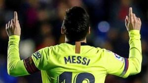 Barcelona vernedert Levante in eigen huis met 0-5, tovenaar Messi heeft voet in elke goal