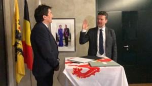 Frank Smeets legt eed af als eerste burgemeester van fusiegemeente Pelt