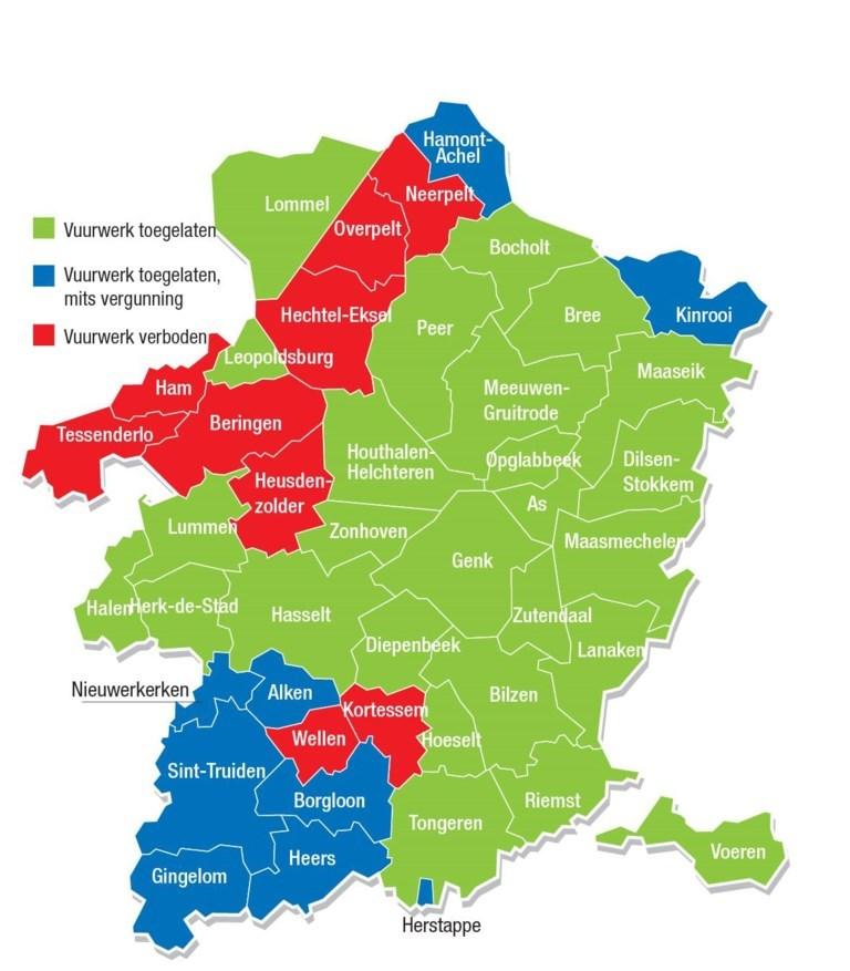 Kaart Vuurwerkverbod Op Negen Plaatsen In Limburg Zo Zit H