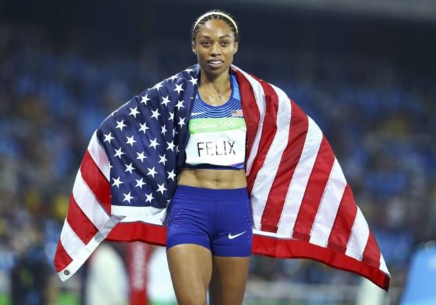 Zesvoudig olympisch kampioene Allyson Felix zette dochtertje op de wereld met keizersnede