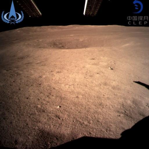 Chinese ruimtesonde als eerste ooit succesvol geland op achterzijde van de maan