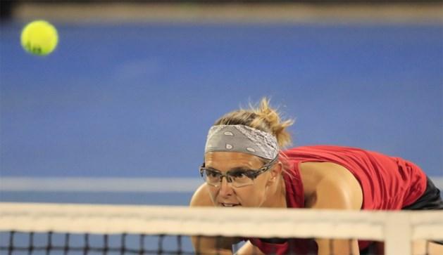 Kirsten Flipkens staat met Zweedse Larsson in finale van dubbeltoernooi in Hobart