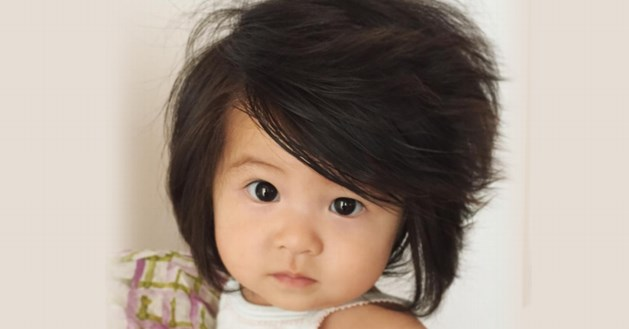 Baby met enorme haardos schopt het tot gezicht voor Pantene