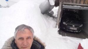 """Heusdenaar in Oostenrijk zet zich schrap  voor weekend met nog meer sneeuw: """"Drie keer per dag loopgraven vrijmaken"""""""