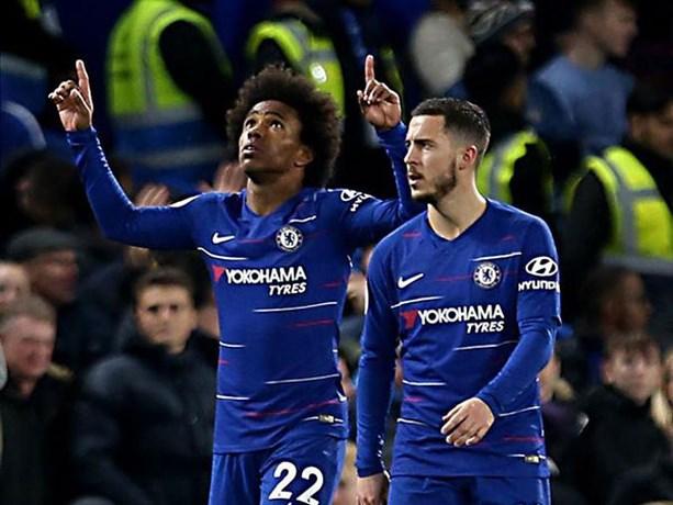 Chelsea staat weer wat steviger in top vier na zuinige zege, alweer assist van Eden Hazard