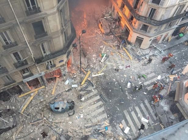 Zes gebouwen dreigen in te storten na explosie in Parijse bakkerij
