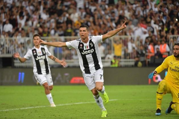 Ronaldo schenkt Juventus zege in Supercoppa tegen AC Milan