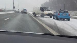 """Tijdens avondspits volop sneeuw in Limburg: """"Pas uw rijstijl aan"""""""