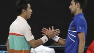 Novak Djokovic staat na anderhalve set in halve finale op Australian Open: zwaar ontgoochelde Kei Nishikori geeft op