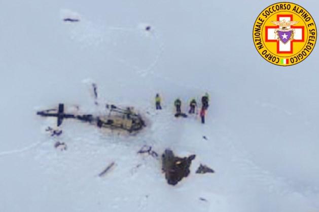 Vijf doden bij ongeval met helikopter en vliegtuig in Italiaanse Alpen