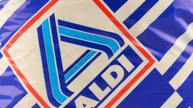 De wit-blauwe plastic Aldi-zak verdwijnt