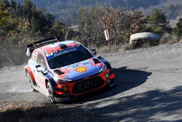 WK Rally: Sébastien Ogier leidt, Thierry Neuville is op twee seconden tweede in Monte Carlo