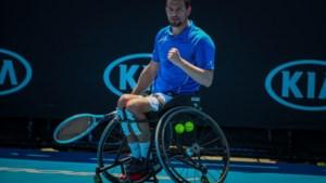 Belgische rolstoeltennisser Joachim Gérard wint dubbelspel op Australian Open