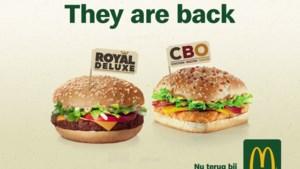 Fans mogen beginnen watertanden: de CBO en Royal Deluxe hamburgers komen terug