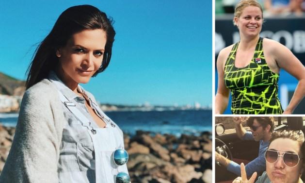 Gluren bij BV's: Astrid Coppens toont haar beginnende babybuik, Kim Clijsters een verborgen talent