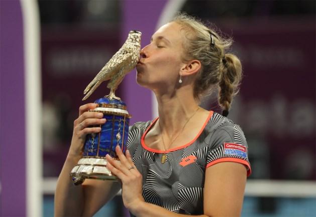 Elise Mertens verslaat voormalige nummer één van de wereld en pakt in Doha grootste zege uit haar carrière