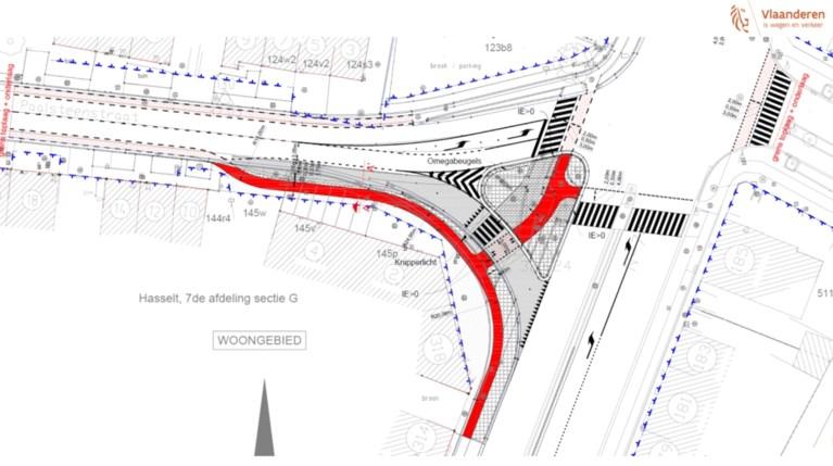 Gevaarlijk Hasselts kruispunt wordt aangepakt: slimme verkeerslichten en beveiligde oversteekplaatsen