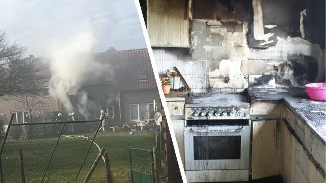 Huis in Loksbergen onbewoonbaar na keukenbrand