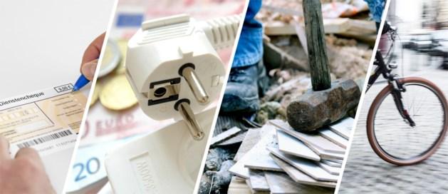 Dit verandert allemaal vanaf 1 maart, voor uw dienstencheques, elektriciteitsfactuur, bouw en woon-werkverkeer