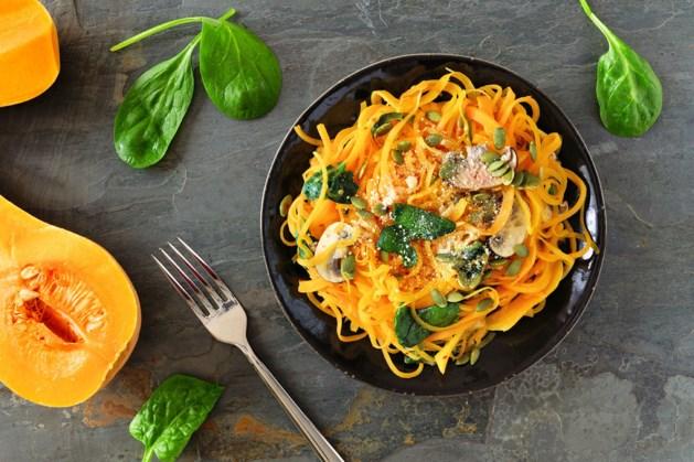 Limburg smaakt naar meer: Vegan pompoenspaghetti met spinazie