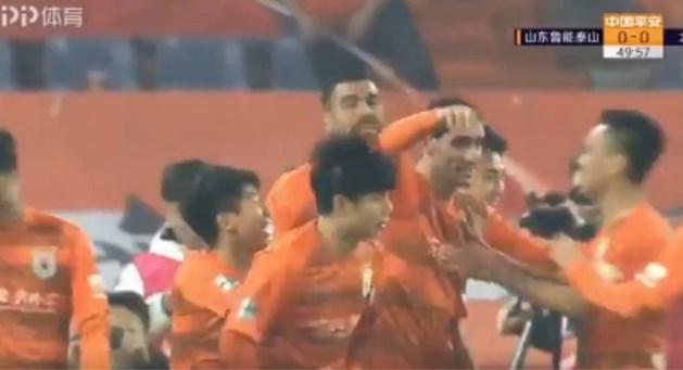 Eerste match, eerste goal: Marouane Fellaini opent meteen zijn Chinese rekening