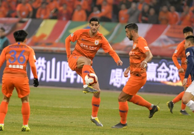 Marouane Fellaini pakt met Chinese club een punt in Champions League voor Aziatische en Australische teams
