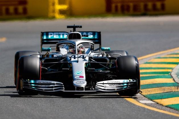 Hamilton fractie sneller dan Ferrari tijdens eerste oefensessie GP van Australië