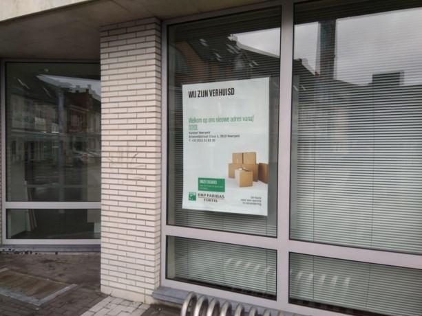 Fortis bank weg aan marktplein Overpelt