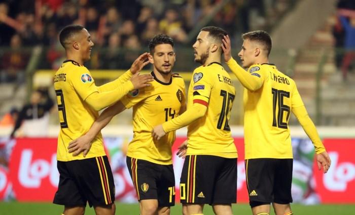 Courtois blundert, maar Eden Hazard bezorgt België verdiende en nodige zege