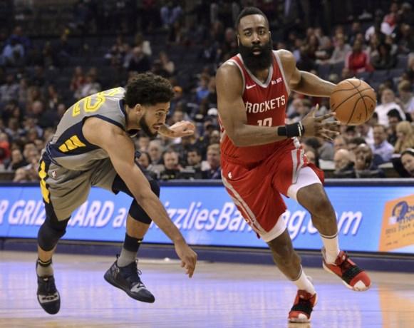 James Harden scoort 57 punten, maar toch verliezen Houston Rockets