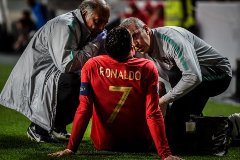 Cristiano Ronaldo valt al na halfuur geblesseerd uit bij Portugal, Juventus wacht bang af