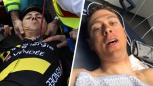 """Titelverdediger Niki Terpstra geeft op na zware val in de Ronde van Vlaanderen, ook geen Parijs-Roubaix: """"I'll be back"""""""