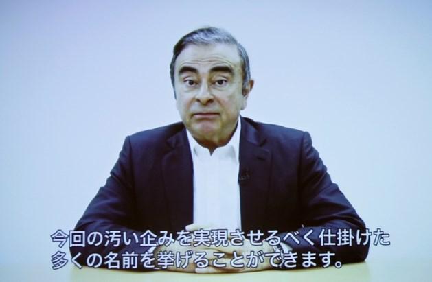 """Gearresteerde Nissan-baas spreekt in opmerkelijke videoboodschap van """"verraad"""""""