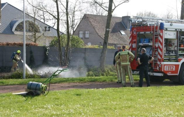 Brandweer blust bermbrand aan Finse piste bij Mater Dei