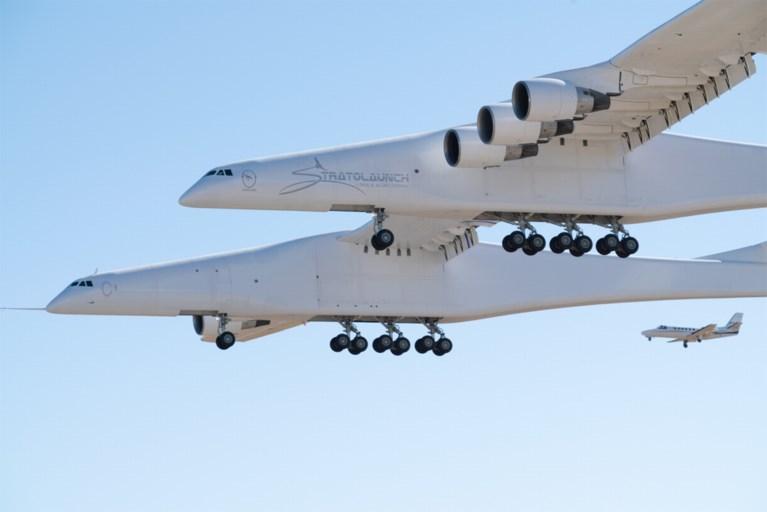 Emoties bij eerste vlucht voor grootste vliegtuig ter wereld, zes maanden na overlijden van bezieler