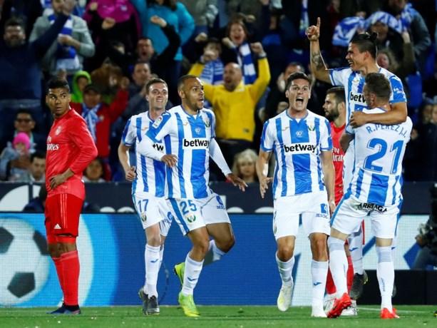 Real Madrid blijft op de sukkel: nu weer puntenverlies tegen het bescheiden Leganés