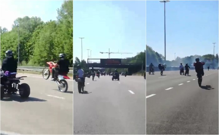 Honderden motorrijders maken het bont op Antwerpse Ring