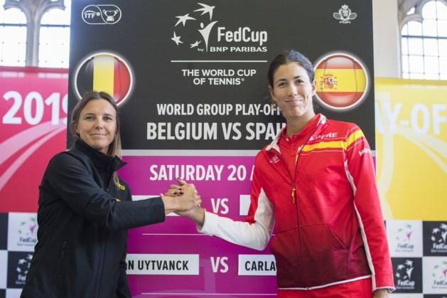 Belgische Fed Cup-vrouwen vechten tegen Spanje om behoud in Wereldgroep I