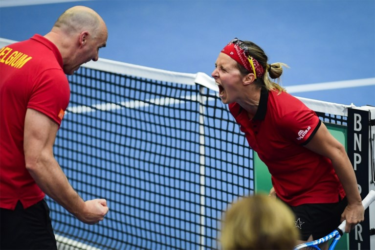 Kirsten Flipkens stunt, maar Alison Van Uytvanck verliest: België en Spanje houden elkaar in evenwicht op eerste dag van Fed Cup