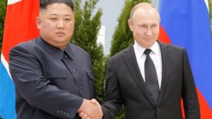 Kim verbroedert met Poetin