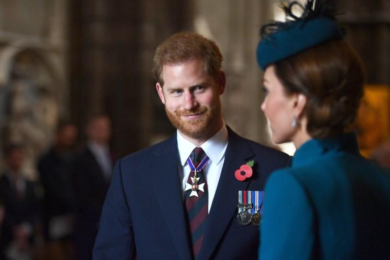 Prins Harry en Kate Middleton maken zeldzame verschijning