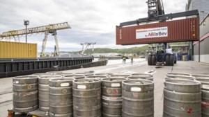 Eerste bierboot over Albertkanaal