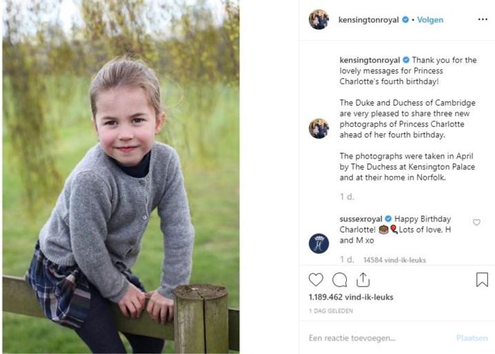 Ook prinses Charlotte krijgt lief berichtje van prins Harry en Meghan